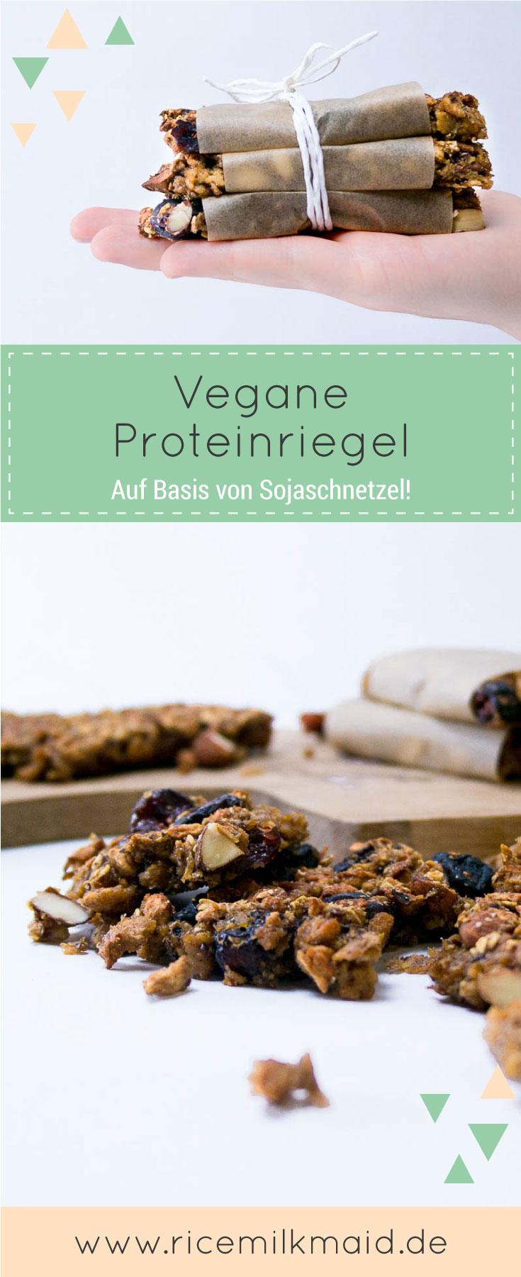 Vegane Proteinriegel aus Sojaschnetzel und Cranberries. Hast du Sojafleisch schon mal süß gegessen? Super Idee und perfekt für nach dem Sport! ♥ | Ricemilkmaid Blog