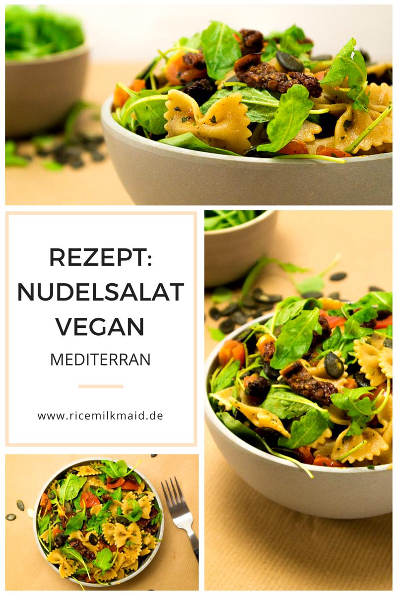 Ein herrlich frisches Rezept für einen mediterranen Nudelsalat - komplett vegan. Perfekt für Grillfeste oder als Abendessen an heißen Sommertagen. Klick dich zum Rezept oder speichere es jetzt für später!