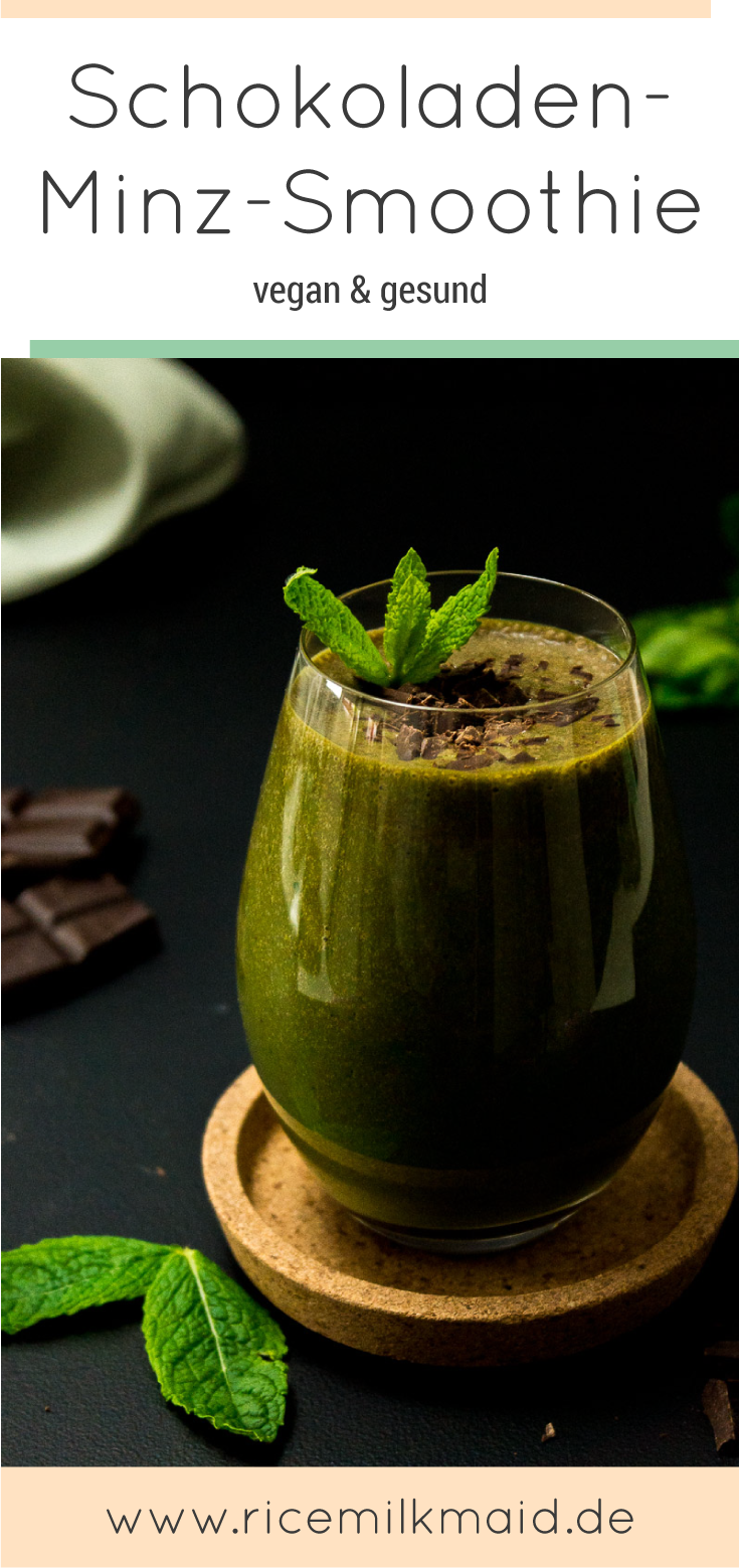 Drei schnelle, gesunde Smoothies mit Suchtfaktor. Pfirsich-Grüntee, Schokolade-Minze oder doch lieber der grüne Petersilien-Smoothie? Klick dich durch zum Blog oder speichere die Rezepte jetzt und probiere sie später! | Ricemilkmaid Blog
