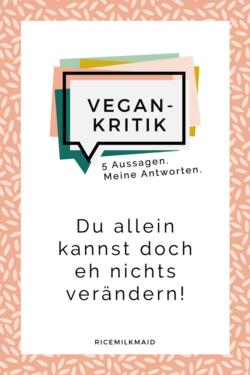 In dieser Serie befasst sich Cosima mit der Vegan-Kritik und hat sich fünf häufig gestellte Aussagen und Fragen herausgesucht, die sie beantwortet. Du allein kannst doch eh nichts verändern! Ist das nicht total schwierig, Essen zu gehen? Würdest du Eier von eigenen Hühnern essen? Als Veganer muss man ja für immer hungern! Keine Tiere zu essen ändert auch nichts daran, dass die Welt scheiße ist! Klick dich gleich zum Beitrag.