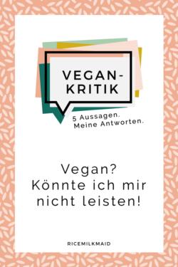 In dieser Serie befasst sich Cosima mit der Vegan-Kritik und hat sich fünf häufig gestellte Aussagen und Fragen herausgesucht, die sie beantwortet. Ist vegan essen teuer? Müssen Kühe gemolken werden? Warum isst man kein Fleisch? Wieso trägst du unvegane Sachen auf? Vegan - das schmeckt doch gar nicht! Klick dich gleich zum Beitrag.