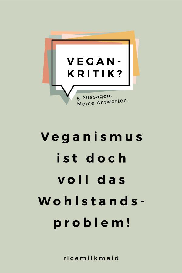 In dieser Serie befasst sich Cosima mit der Vegan-Kritik und hat sich fünf häufig gestellte Aussagen und Fragen herausgesucht, die sie beantwortet. Veganismus ist doch voll das Wohlstandsproblem! Ich finde Veganismus toll, aber ich könnte nicht so diszipliniert sein! Tun dir die Tiere etwa leid? Aha, du bist vegan. Und wann hörst du damit wieder auf? Wie viele Tabletten musst du täglich schlucken, damit du keine Mangelernährung hast? Alle Antworten findest du jetzt auf ricemilkmaid.de!