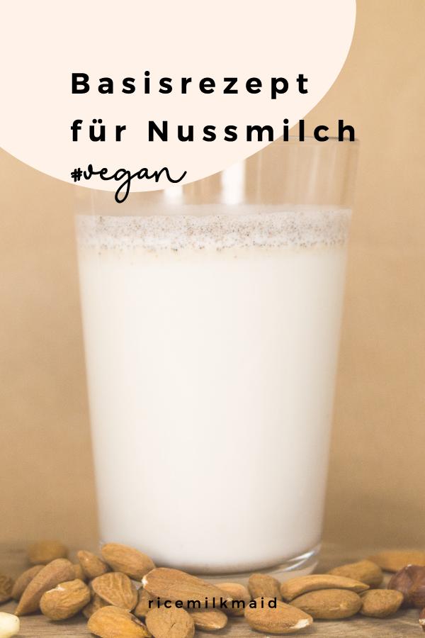 Nussmilch selbst herstellen? Ganz einfach! Mit diesem Basisrezept fällt dir die Herstellung von Nussmilchsorten wie Mandelmilch, Cashewmilch und Haselnussmilch in deiner eigenen Küche ganz einfach. Klick dich gleich zum Beitrag! #vegan